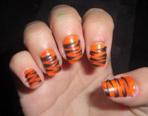 tiger nails rawr
